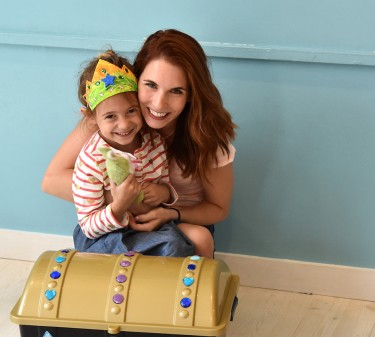 Elisa Pupko and her niece at the Treasure Trunk Theatre