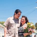 David De la Cruz and his mother, Berta