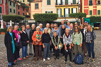 Traveler group in Northern Italy