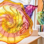 Several blown glass pieces
