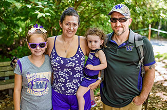 Family at Husky Zoo Day