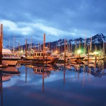 Seward Marina at Resurrection Bay in Alaska