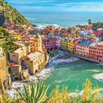 Colorful buildings on the Italian Riviera