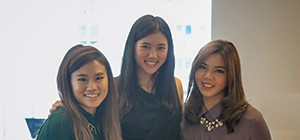 a group picture of three Thai students