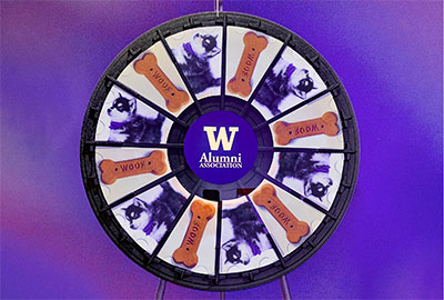 Dawg Dash prize wheel