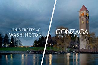 UW-Gonzaga partnership logo