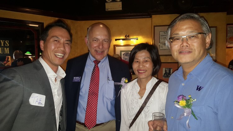 Gordon Neumiller with Hong Kong alumni