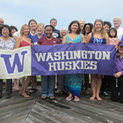 Husky Alumni at Houston Salmon BBQ