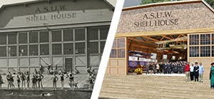 The old Shell House and the new Shell House