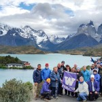 UW Alumni Tours group poses in Patagonia