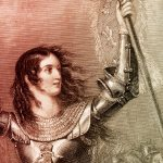 Colorized image of Joan of Arc