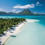 Bora Bora is a small South Pacific island northwest of Tahiti in French Polynesia. Surrounded by sand-fringed islets and a turquoise lagoon protected by a coral reef, it's known for its scuba diving.