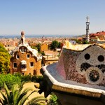 Park Güell, designed by Antoni Gaudí, overlooking Barcelona