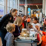 Children and docent at the California Academy of Sciences