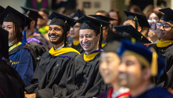 Students from the GIX Graduation Ceremony