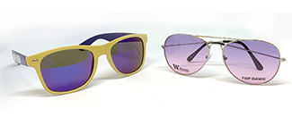 purple and gold sunglasses