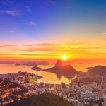 Sugar Loaf on the Sunrise in Rio de Janeiro.