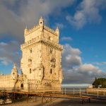 Portugal, Lisbon, View of Belem Tower