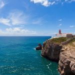 Portugal, Lagos, View of lighthouse at Cape St Vincent