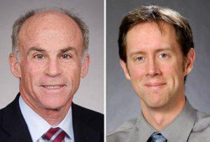 Portraits of Charles Bernick and Kris Rhoades