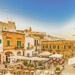 A square in Ostuni, Italy