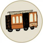 Cartoon image of trolley