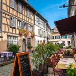 A sidewalk cafe in Strasbourg, France