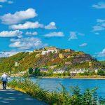 Koblenz, Germany, where the Rhine and Mosel rivers meet