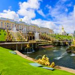 Peterhof Palace is a series of palaces and gardens located in Petergof, Saint Petersburg, Russia,