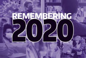 """""""Remembering 2020"""" over purplized images"""