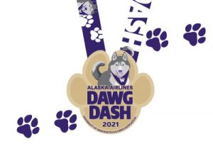 Detail of Dawg Dash medal