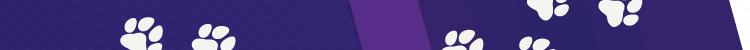 Purple stripe with white husky pints on it