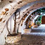 Architectural arches in Paleokastritsa, Corfu, Greece