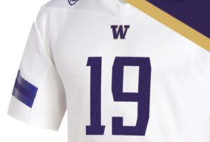 White away-game football jersey