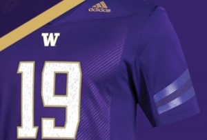 Purple home-game football jersey