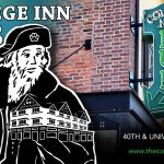 College Inn Building sign with pirate drawing superimposed