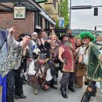 Seafair Pirates in front of the College Inn Pub