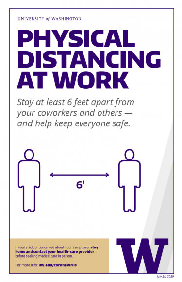 Physical distancing at work