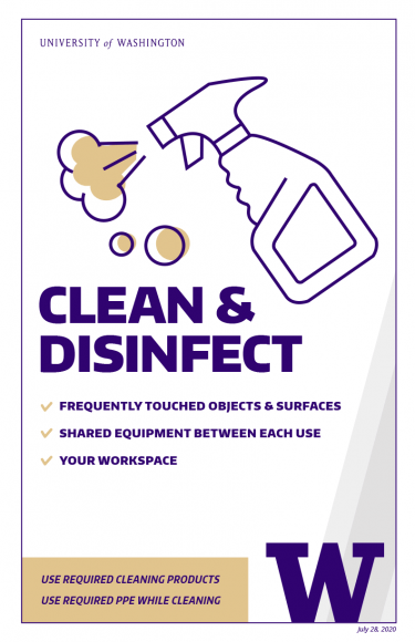Clean and disinfect
