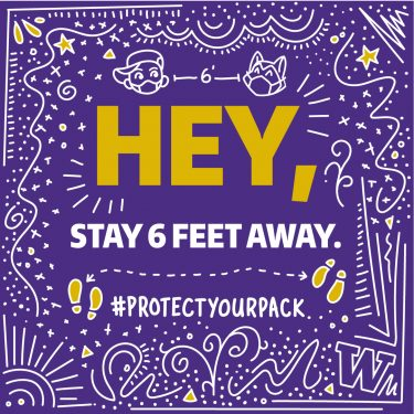 Hey, stay 6 feet away - 1080x1080