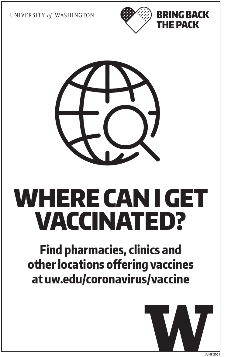 Image of 'Where can I get vaccinated' black and white poster