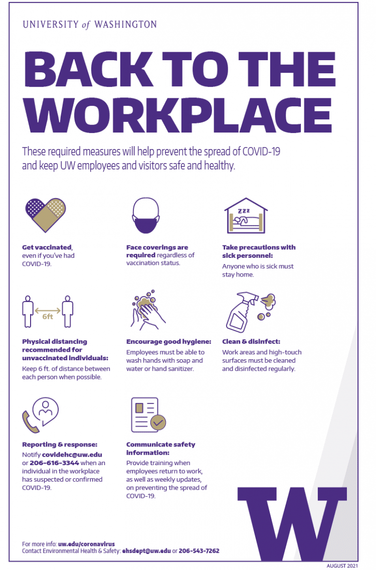 Image of 'Back to the workplace' color poster