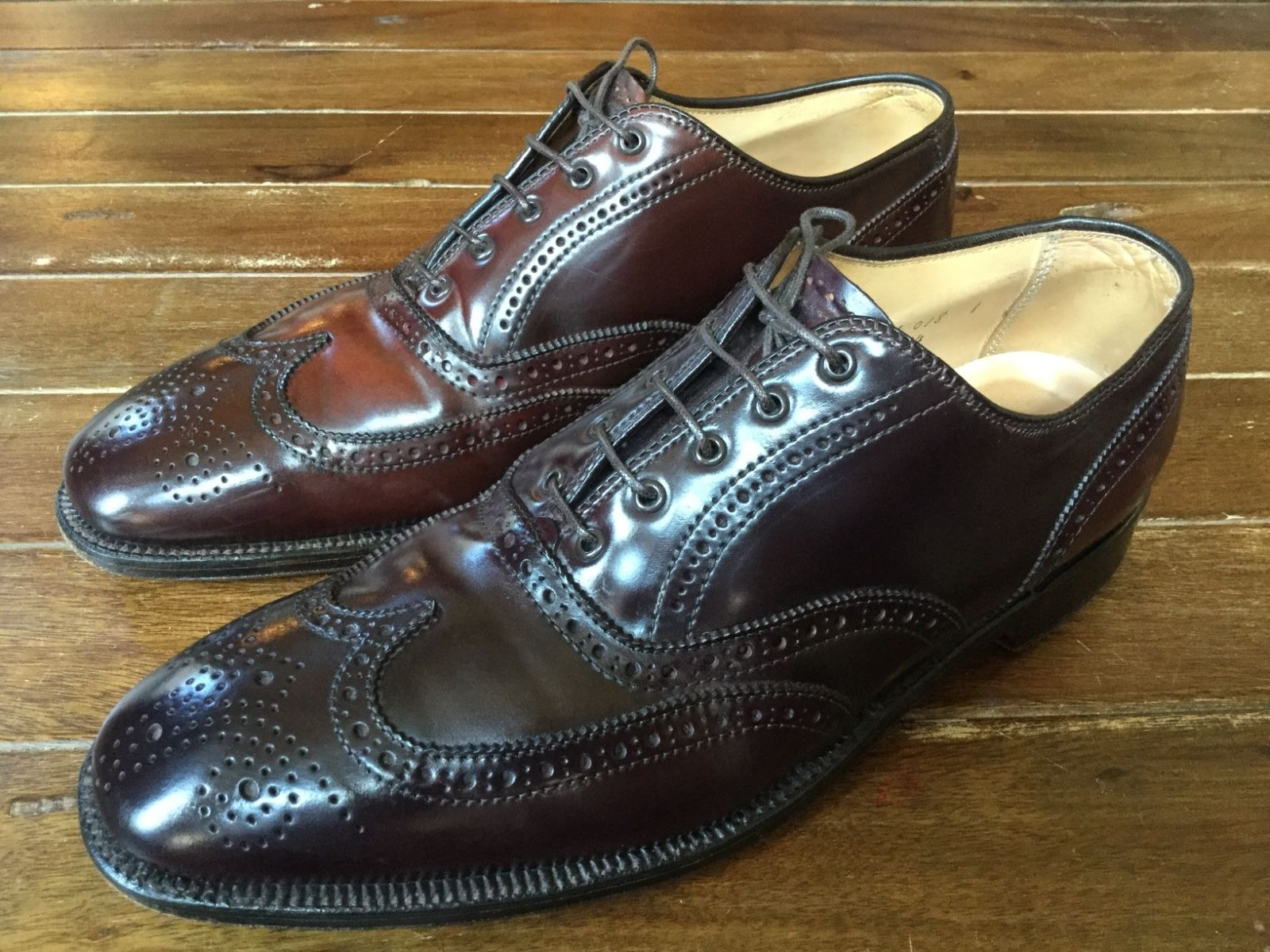 7c9380775d5 Alden for Brooks Brothers Shell Cordovan Wingtips in Cordovan 10 D – $164