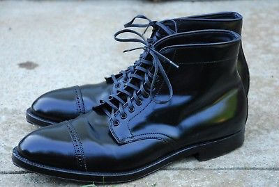 88313b14ea3 Alden D5813 - Black Shell Cordovan Perforated Cap Toe Boot - Alden ...