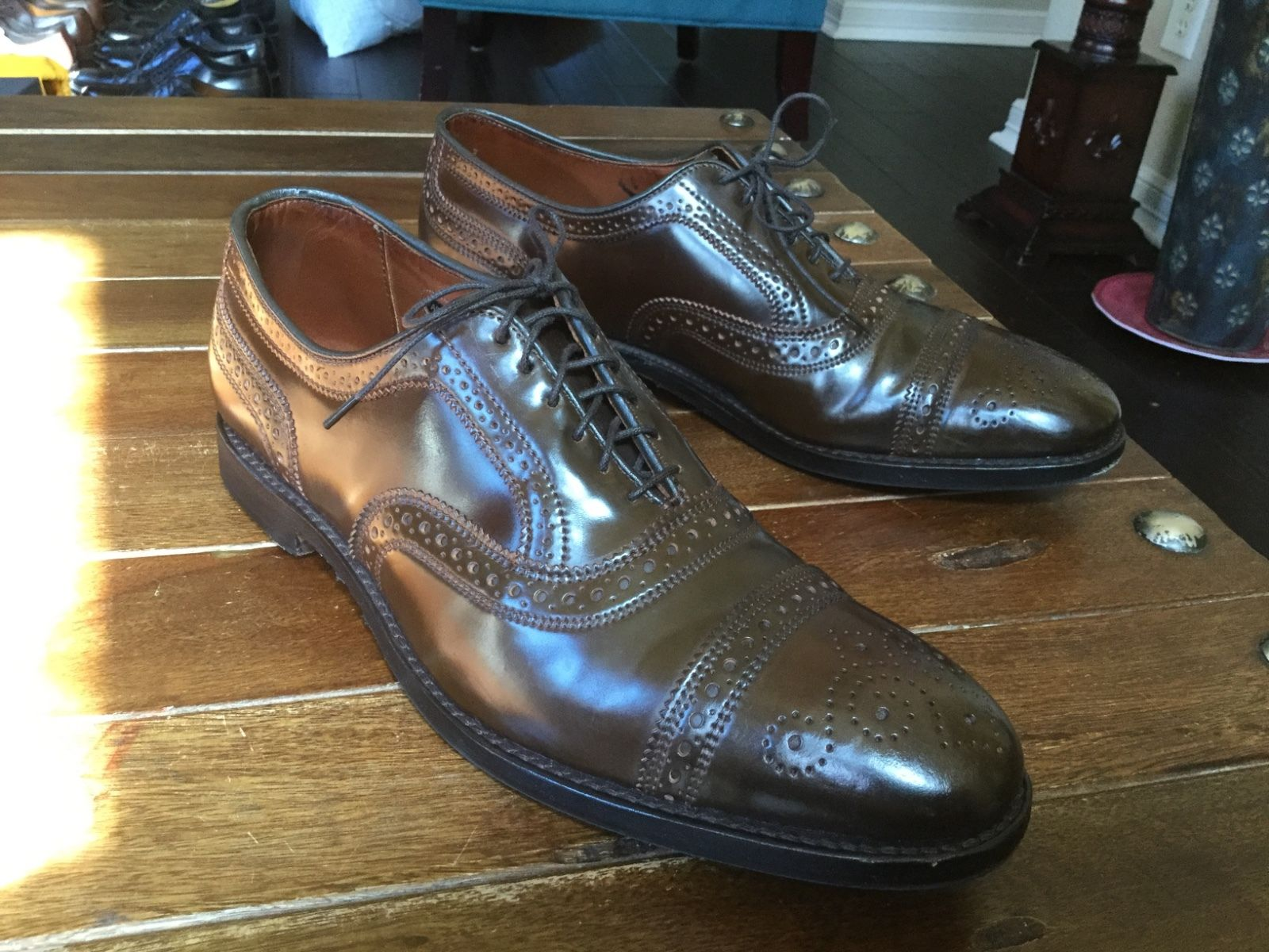 Allen Edmonds Strand In Cigar Shell Cordovan