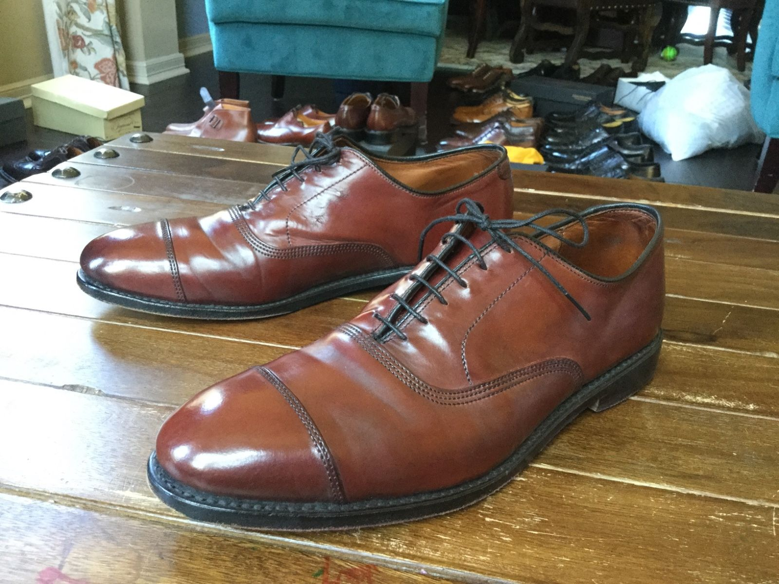 Allen Edmonds burgundy Shell Cordovan Park Ave