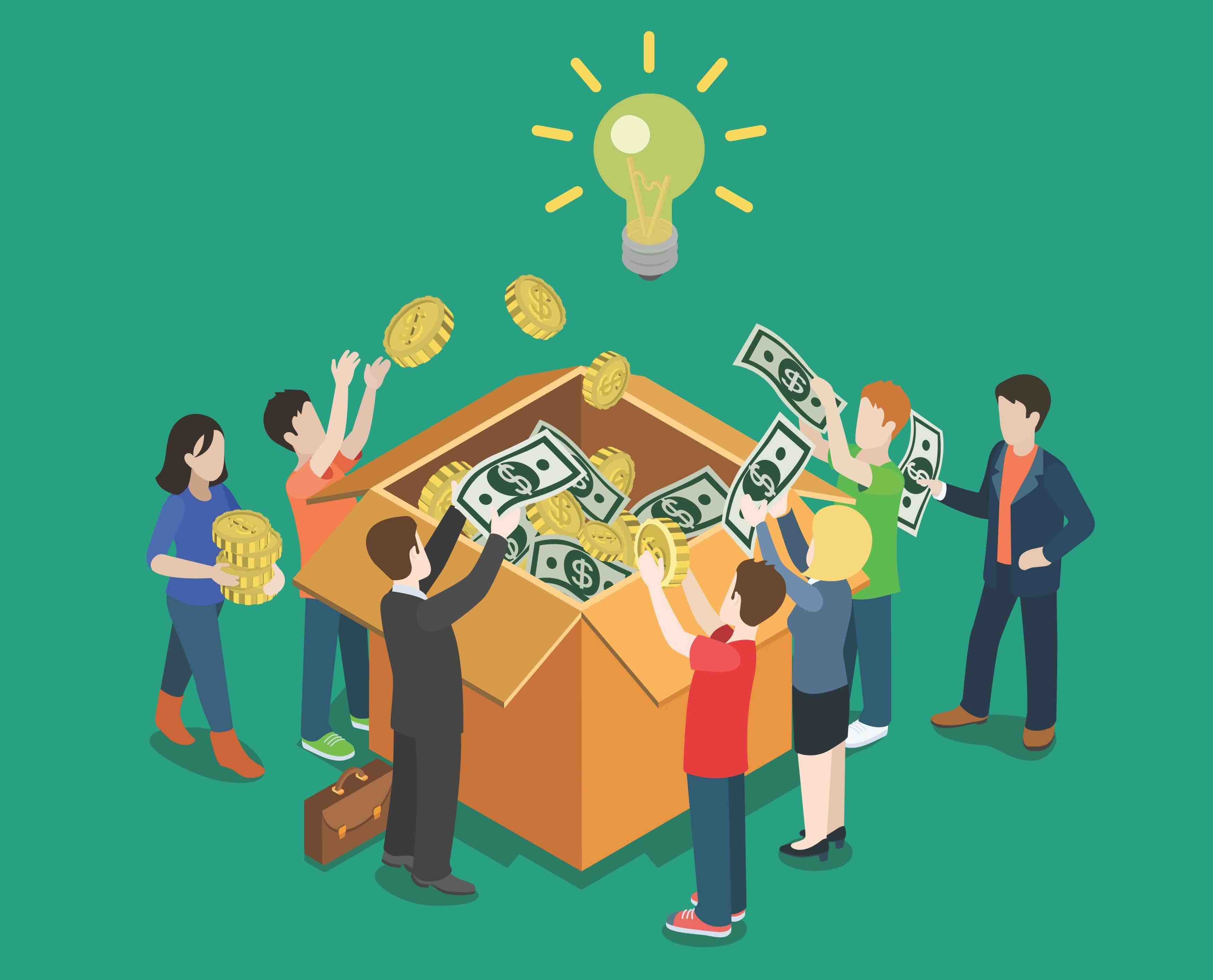 People crowdfunding a real estate investment for people needing hard money