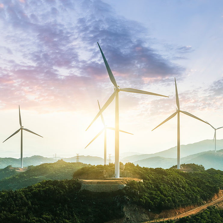 Filter Page Image: wind turbines in the mountains