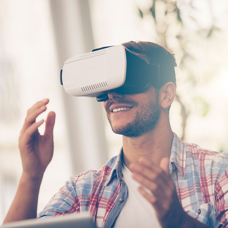 Filter Page Image: Man using VR headset