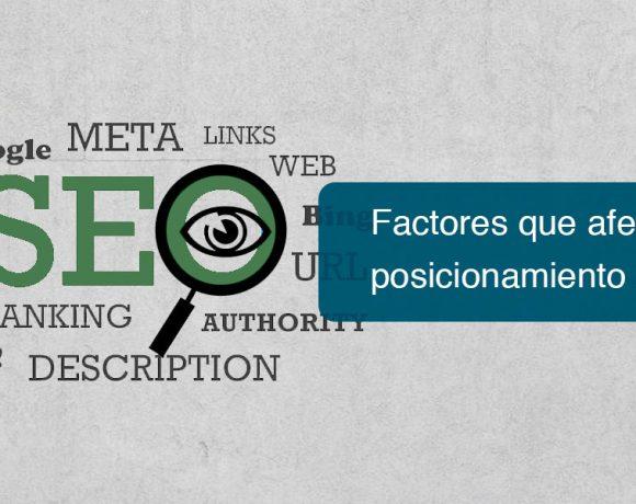 Factores que afectan al posicionamiento SEO